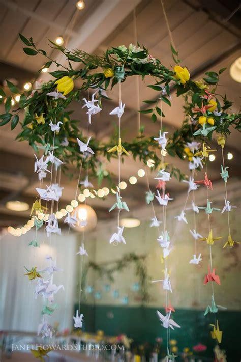 1000 paper cranes wedding decor hanging centerpiece reception