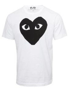 comme des gar 231 ons play mens black t shirt white in black for lyst - Comme Des Garcons Play White T Shirt