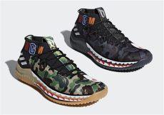 bape x adidas bape x adidas dame 4 detailed look ap9974 ap9975 detailed look sneakernews