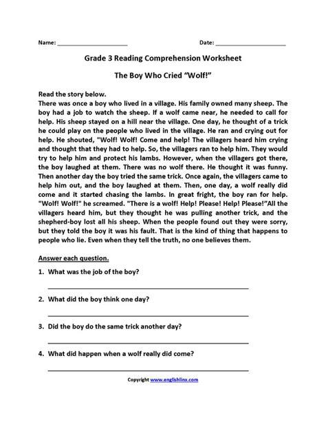 grade reading worksheets reading comprehension worksheets grade reading
