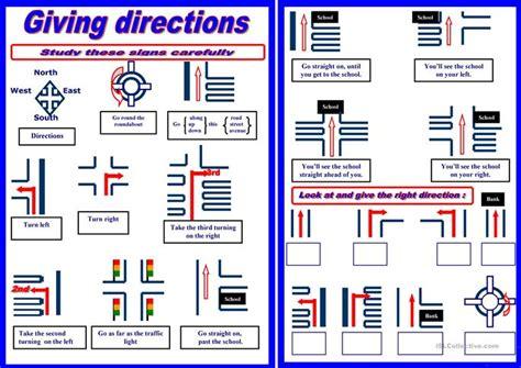 giving directions worksheet free esl printable worksheets teachers