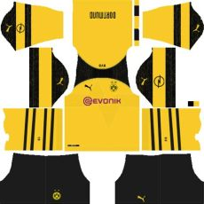 borussia dortmund 2019 2020 kits league soccer - Kit Dls Dortmund