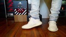 yeezy cream white on feet girl adidas yeezy boost 350 v2 white on foot