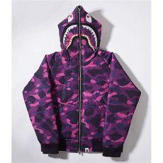 purple and black bape hoodie a bathing ape bape wgm camo shark hoodie purple