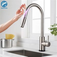 touch sensor kitchen faucet reviews brushed nickel sensitive touch kitchen faucet stainless steel pull touch sensor