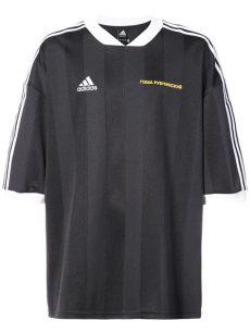 adidas gosha rubchinskiy t shirt gosha rubchinskiy x adidas football t shirt in black for lyst