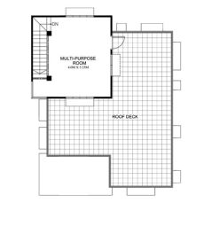 maryanne one storey with roof deck shd 2015025 eplans - One Storey House With Roof Deck Floor Plan