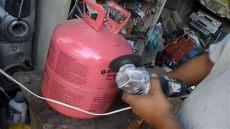 como cortar una garrafa de gas refrigerante reutilizando tanque de helio 161 161 lo hicimos alcancia 161 161 161