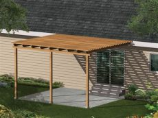 wood patio cover plans free kelsey patio cover plan 002d 3015 house plans and more