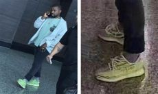 yeezy boost 350 v2 frozen yellow outfit kanye west wears semi frozen yellow adidas yeezy boost 350 v2