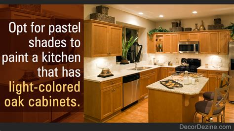 eye pleasing paint colors kitchens oak cabinets