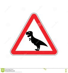 attention meme dinosaur attention dinosaur sign warning of dangerous predator reptile stock vector illustration of