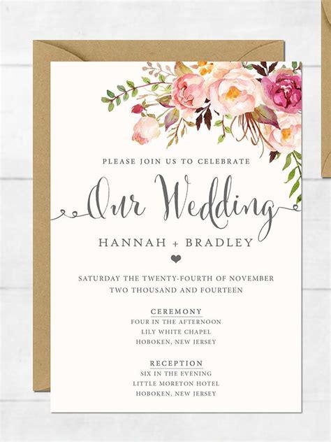 16 printable wedding invitation templates diy invitaciones de