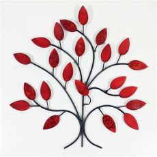 red metal wall art uk metal wall summer tree branch
