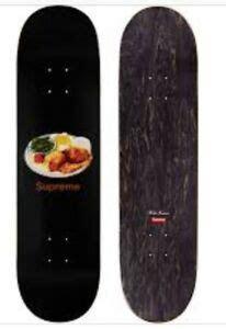supreme skateboard deck chicken dinner supreme chicken dinner skateboard skate deck black s s18 summer 2018 ebay
