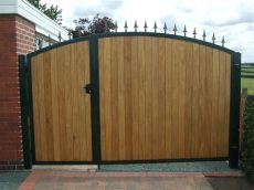 metal framed wooden estate gates inspiring great metal frames with black painted added wooden driveway gates panels as w house
