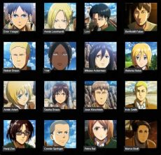 attack on titan characters names list attack on titan season 1 review chen s corner