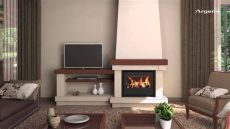 imagenes de salas modernas con chimeneas dise 241 o de chimeneas modernas con recuperadores de calor argem 237