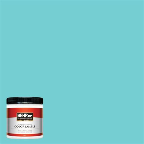 behr premium 8 oz p460 3 soft turquoise