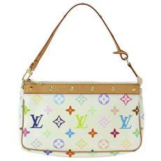 louis vuitton white monogram multicolor pochette accessoires louis vuitton tlc - Louis Vuitton Multicolor Pochette Accessoires White