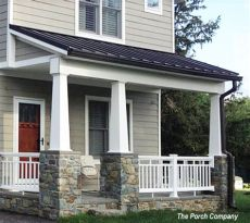craftsman style porch railings vinyl porch railing ideas for porches and decks