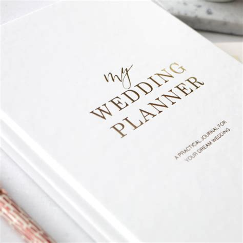 pre order gold foil wedding planner engagement gift