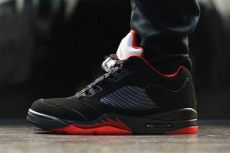 air jordan 5 retro low alternate 90 a look at the alternate 90 air 5 low on foot sole collector