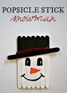 diy craft stick santa snowman craft for kids 15 easy winter snowman crafts for socal field trips
