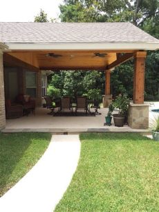 how to build a covered patio attached to a house backyard paradise magnolia tx united states gable roof patio cover attached small
