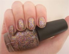 opi blue glitter nail polish opi sparkle licious nail review through the looking glass