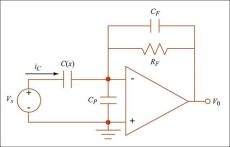 transimpedance capacitor transimpedance lifier with a feedback capacitor