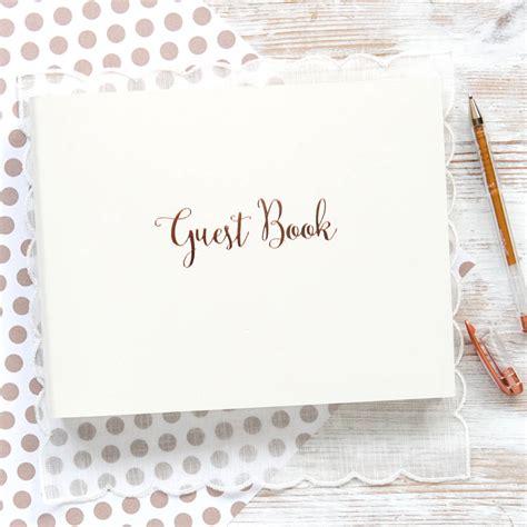 personalised rose gold wedding guest book begolden notonthehighstreet