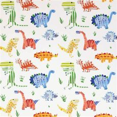 harlequin childrens wallpaper jolly jurassic fabric aqua tangerine apple 3229 harlequin what a hoot fabrics