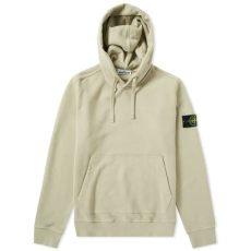 stone island garment dyed popover hoody island garment dyed popover hoody beige end