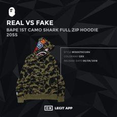 bape shark hoodie real vs fake real vs replica bape 1st camo shark zip hoodie 20ss legit app