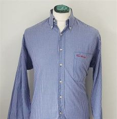 burberry s vintage fit vibrant blue check pattern shirt vgc ebay - Vintage Burberry Shirt Ebay