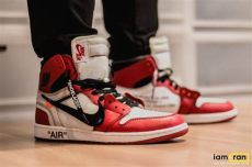 off white jordan 1 on feet iam ran on dipsky nike air 1 x white