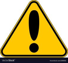 attention sign vector hazard warning attention sign royalty free vector image