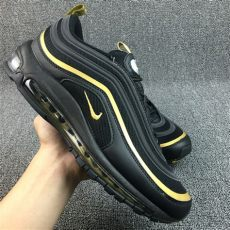 high quality nike air max 97 playstation black gold sneakers s sport running shoes - Nike Air Max 97 Plus Black And Gold