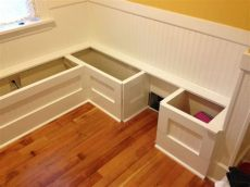 diy corner bench with storage diy custom kitchen nook storage benches