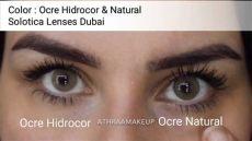 solotica hidrocor ocre vs natural ochre solotica lenses ocre hidrocor