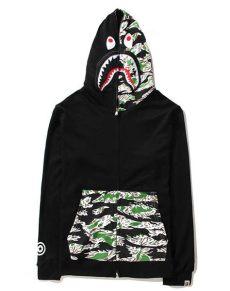 discount 2015 harajuku fashion brand bape shark hoodie camouflage jacket sweatshirts - Bape Sweater Cheap