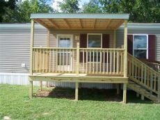 how to build a porch off a mobile home winkel construction small covered deck winkel construction
