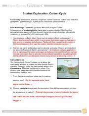 carbon cycle gizmo answer key google search carbon
