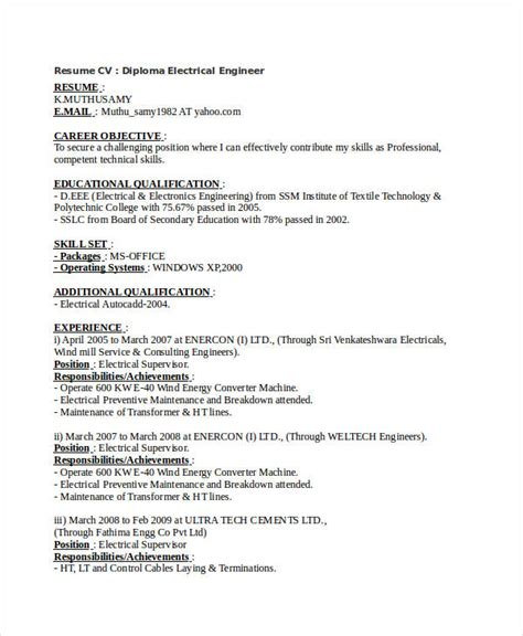 free engineering resume templates 49 free word documents