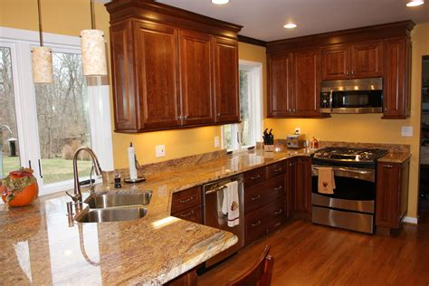 image result color paint kitchen walls cherry cabinets