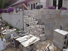 decorating ideas for concrete block walls retaining wall blocks design dapoffice dapoffice