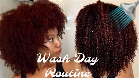 wash day routine 4 products natural hair youtube