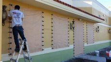 hurricane fabric shutters project gallery miami dade shutters