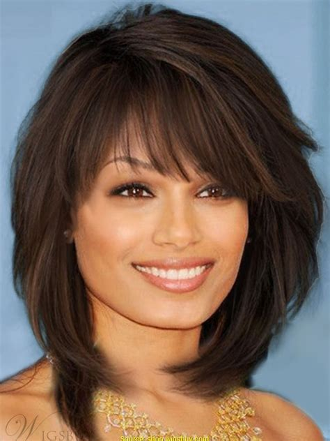 Sweet Layered Bob Hairstyle Mid Lenght Straight Capless Synthetic Wigs 14 Inches Wigsbuy Com.html